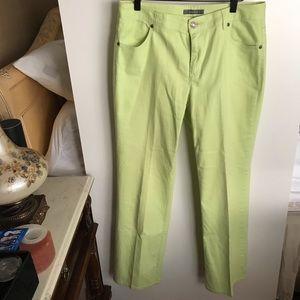 Liz Claiborne lime green summer jeans w/ pockets